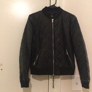 Faux bomber jacket